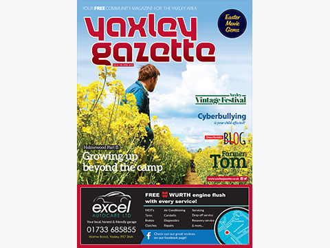 Yaxley Gazette April 2018 cover