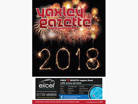 Yaxley Gazette January 2018 cover