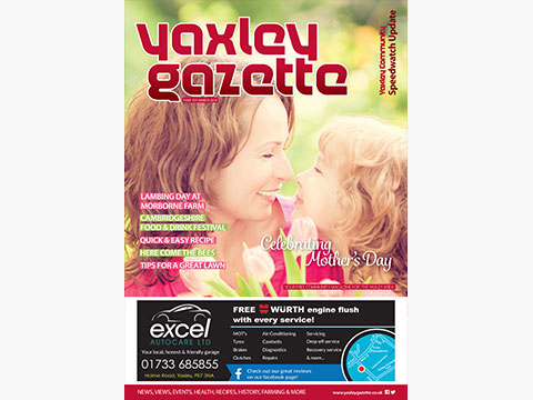 Yaxley Gazette March 2018 cover