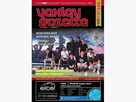 Yaxley Gazette September 2018 cover